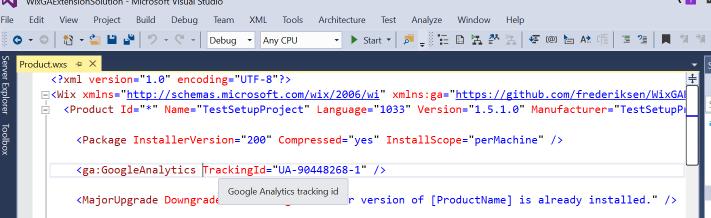 WixGAExtension - Visual Studio Marketplace
